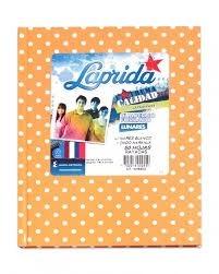 Cuaderno Laprida lunares naranja tapa dura 98 hojas rayado