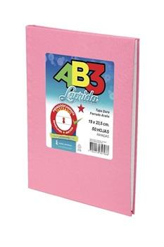 Cuaderno 19 x 23,5 Laprida ab3 araña rosa 50 hojas rayado cosido tapa dura