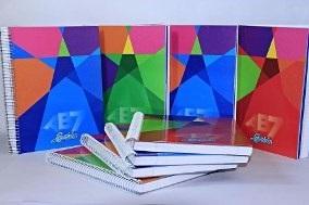 Cuaderno 21 x 27 Laprida ab7 tapa dura 100 hojas rayado espiral