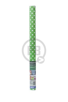 Autoadhesivo Muresco verde lunares blancos x 2 metros