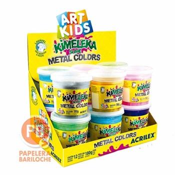 Slime Acrilex kimeleka 180gms caja x 12 metalica