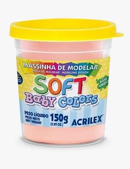Masa soft Acrilex 150 gramos pastel salmon