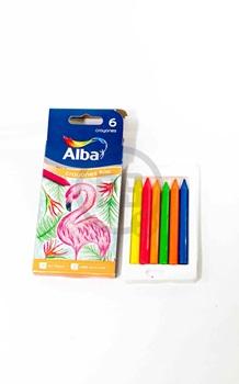 Crayones Alba fluo x 6 unidades