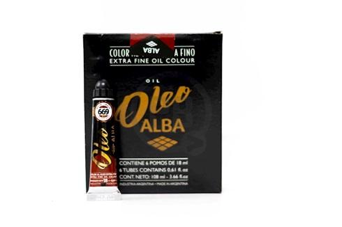 Oleo Alba 6 x 18 ml rojo indio