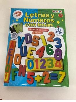 Didac Kreker 360 goma imantada numeros y letras 87 pcs