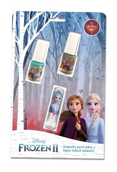 Set maquillaje Disney Frozen 2 2 esmalte + labial