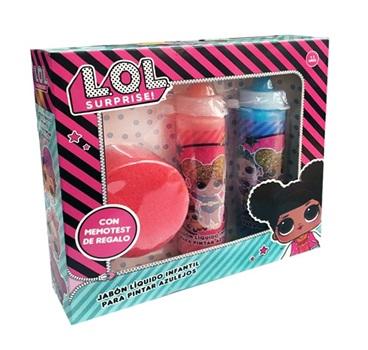 Set jabon liquido para pintar + esponja LOL Surprise!