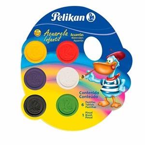 Acuarela pelikan x 6 colores infantil con pincel
