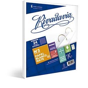 Repuesto Rivadavia 96 hojas   con banda