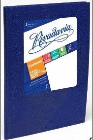 Cuaderno 19 x 23,5 Rivadavia abc araña azul 194 hojas rayado cosido tapa dura