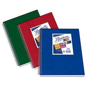 Cuaderno 21 x 27 Rivadavia abc tipo vinilo verde 60 hojas rayado espiral