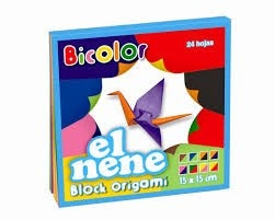Block El Nene origami 15 x 15 bicolor 24 hs