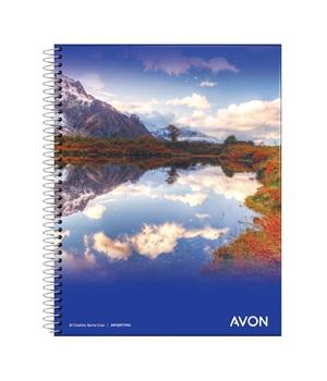 Cuaderno 16x21 Avon 46 hs cuad espiral