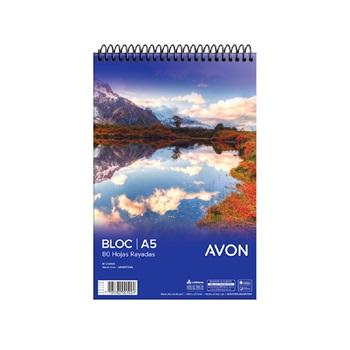 Block anotador Avon A5 80 hs ray espiral