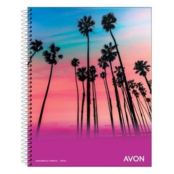 Cuaderno Avon 29,7 tapa flexible 84 hs espiral rayado