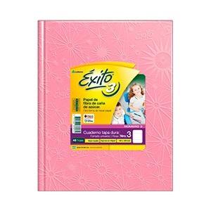 Cuaderno Exito Nº 3 universo tapa dura 48 hojas rayado rosa