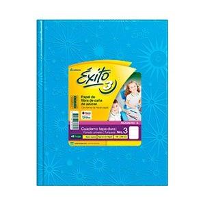 Cuaderno Exito Nº 3 universo tapa dura 100 hojas rayado turquesa
