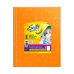 Cuaderno Exito Nº 3 universo tapa dura 100 hojas rayado naranja