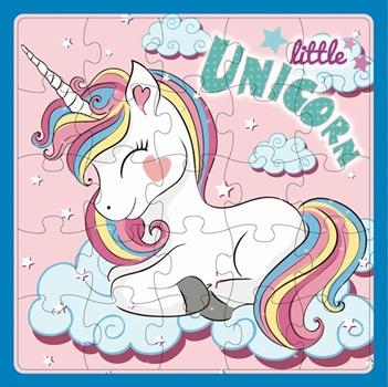 Puzzle Inkdrop 25 piezas 32 x 32cms unicornios
