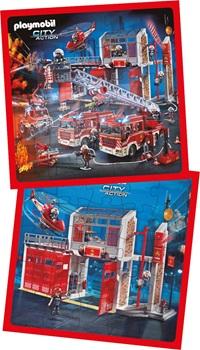 Puzzle Inkdrop 25 piezas 32 x 32cms playmobil bomberos