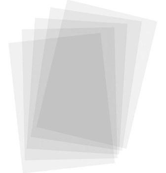 Lamina símil acetato 200mic transpar 50 x 70 c/hoja