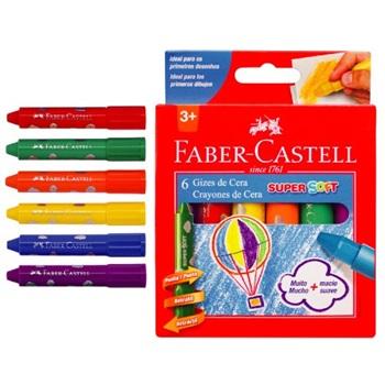 Pinturitas cera Faber-Castell super soft x 6