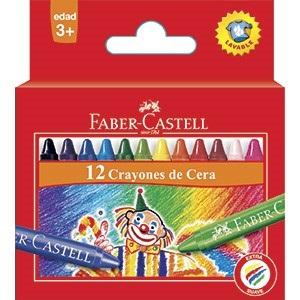 Pinturitas cera Faber-Castell x12 col