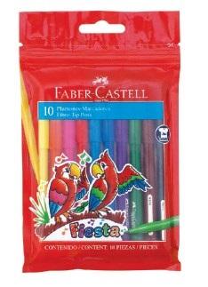 Marcador Faber-Castell escolar x 10 colores