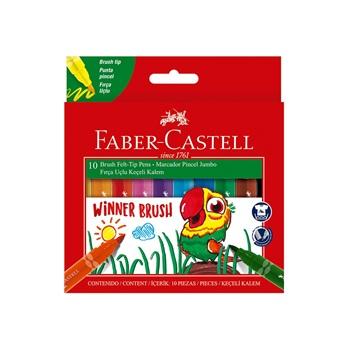 Marcador Faber-Castell winner brush x10 punta pincel