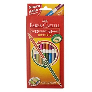 Pinturitas Faber-Castell bicolor 12 unidades = 24 colores