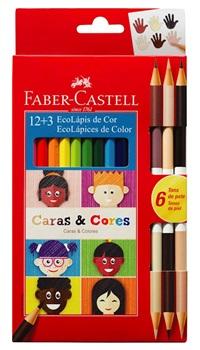 Lapices de colores Faber-Castell caras y colores x 12+3 largas