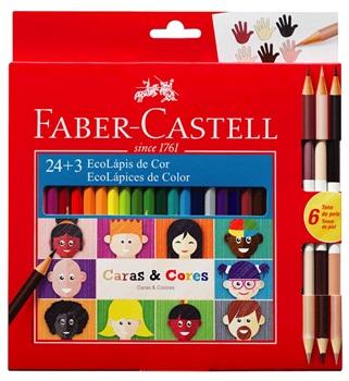 Pinturitas Faber-Castell caras y colores x 24+3 largas