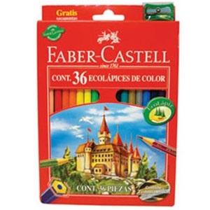 Lapices de colores Faber-Castell ecolapiz x 36 largos