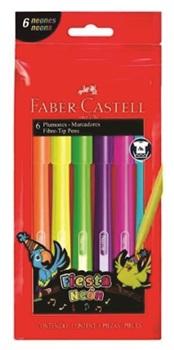 Marcador escolar Faber-Castell neón x6 surtido
