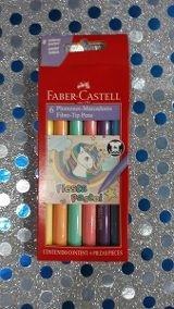 Marcador escolar Faber-Castell pastel x6 surtido