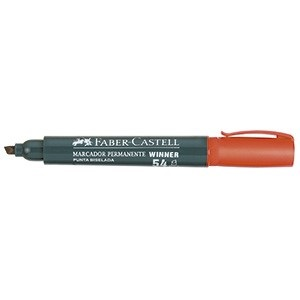 Marcador Faber-Castell 54 permanente punta chanfle rojo