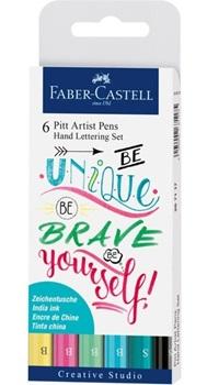 Marcador Faber-Castell pitt artist pen lettering pastel x6