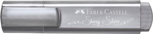 Resaltador Faber-Castell textliner 46 metallic plata