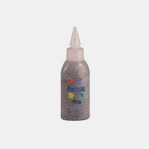 Plasticola brillo 38 gramos plateado