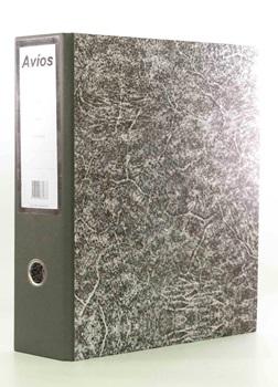 Bibliorato gris lomo tela oficio palanca niquelada