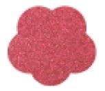 Goma eva glitter apliques 4cmx2 mm flor x60 unidades