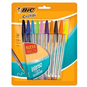 Bolígrafo Bic cristal 1,6 blister x 10