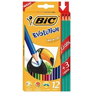 Pinturitas Bic evolution x 12 largos