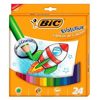 Lapices de colores Bic evolution 4 mm x24