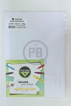 Papel Pizzini dibujo 106 gramos A3 29,7 x 42 paquete x 10
