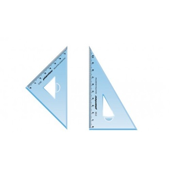 Set escuadras profesional 45°/60° 12 cm