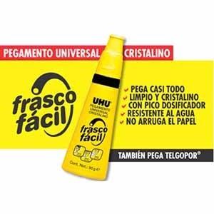 Adhesivo Uhu universal 90 gramos frasco facil -