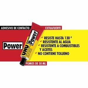 Adhesivo Uhu power de contacto 50 ml resiste al calor