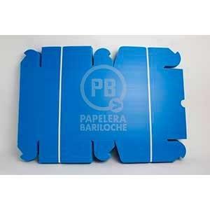 Caja archivo plástica legajo 12 azul tapa volcada