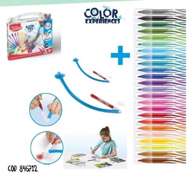 Set artistico Maped creativ blow 24 colores